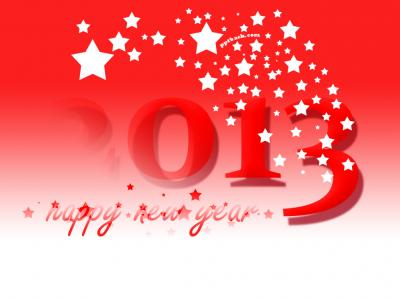 Happy New Year 2013 ppt backgrounds