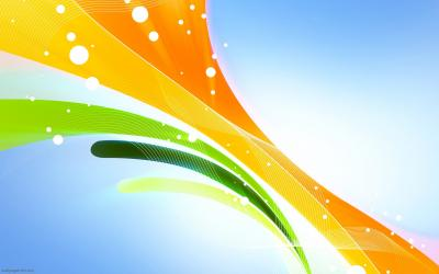 abstract lines green orange yellow ppt backgrounds