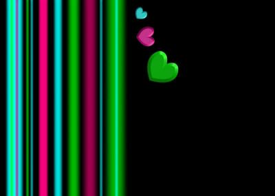 Colors stripe with heart ppt backgrounds