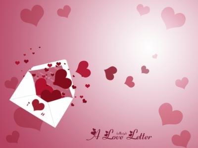 Letter Love ppt backgrounds