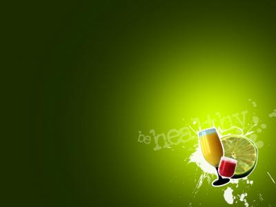 Fruit drinks and health  ppt backgrounds