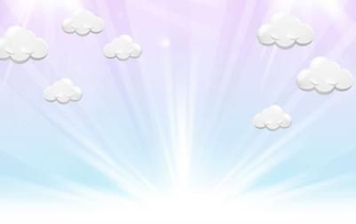 After birth, light, clouds ppt backgrounds
