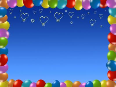 ballons ppt backgrounds