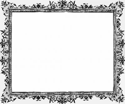 Black and White Frame ppt backgrounds