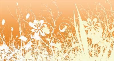 Orange floral vintage pattern ppt backgrounds