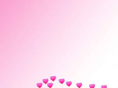 Pink hearts gradient ppt backgrounds