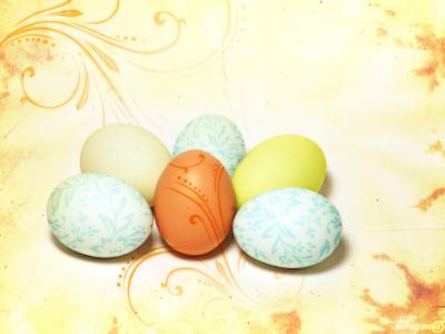 Happy Easter Eggs ppt backgrounds