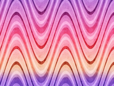 Retro waves purple pink yellow ppt backgrounds