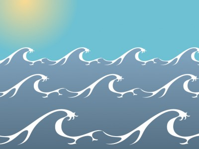 Sea ocean waves ppt backgrounds