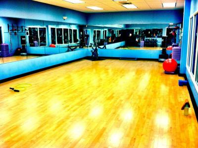 Group Fitness Room Gym ppt backgrounds