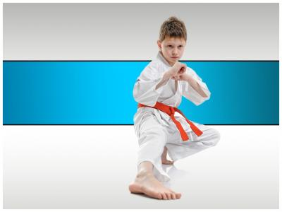 Taekwondo competitive sports publicity ppt backgrounds