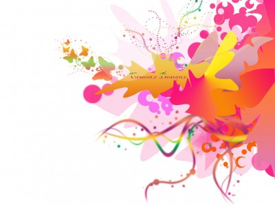 Sprinkle Bloomy Design Colorful ppt backgrounds