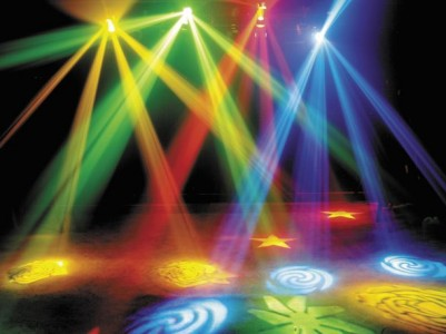 Strobe lights effect ppt backgrounds