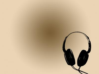 Headphones ppt backgrounds
