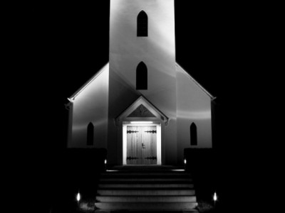 Tourism scenery iceland church ppt backgrounds