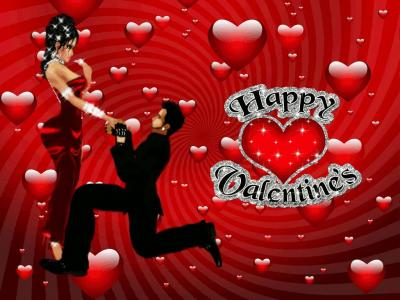 Happy Valentines day with couple and heart ppt backgrounds