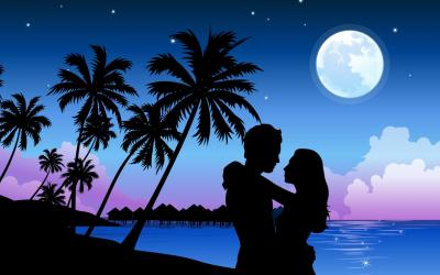 Romantic Beach Paradise ppt backgrounds